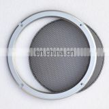 Black powder coated metal aluminum auto car accessory small mesh speaker grille cover