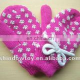 kids acrylic knit gloves
