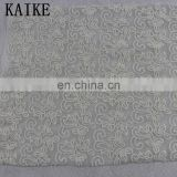 Wholesale custom malaysia haute couture lace voile embroidery fabric