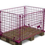 Collapsible stackable mesh metal forklift safety cage
