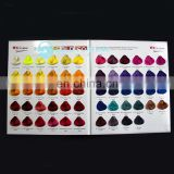Hot Selling Salon Hair Dye Hair Color Chart with Your Own Brand Own Size