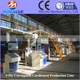 Factory sell corrugated cardboard making machine with thin slitter scorer fluted paper machine