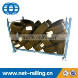 Industrial foldable heavy duty tire rack