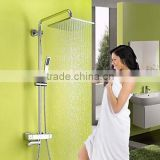 Contemporary Chrome Brass Thermostatic Shower Set with Air Injection Technology Shower Head