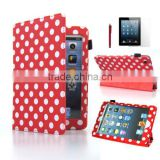hot selling polka dots Leather Smart Case Cover for iPadMini 2 with Retina