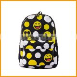 Fashion Stock Funny Emoji Backpack for Primary School                                                                         Quality Choice