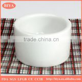 Wholesale Sublimation white porcelain ceramics candle holder stand can custom print decorative desgin