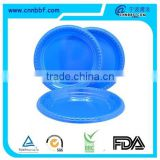 Dispoable solid color round plastic plate for party
