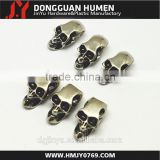 Jinyu custom gold metal skull beads jewelry,galvanized skull beads
