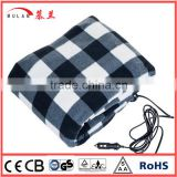 12v Polar fleece Electric Heating Blanket for auto car withCE GS ROHS