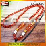 Fashion jewelry natural agate emerald round beads necklace Wholesale Price