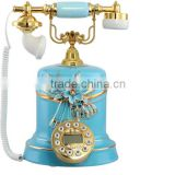 European fashion creative hands-free telephones antique telephones ceramic high-end phone calls Alice