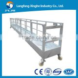hot galvanized suspended wire rope platform / work platform / cradle / gondola / swing stage