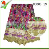guangzhou wholesale african wax prints fabric with high quality guipure cord lace hollandis wax fabric textile