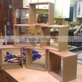 unfinished MDF wooden activity wall cube shelf                                                                         Quality Choice