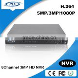 wifi nvr 8channel 5MP 16channel 3MP network video recorder support alarm input and output