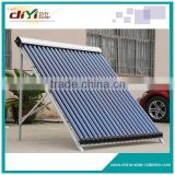 Solar Keymark and SRCC approved pressured heat pipe solar guangzhou parabolic trough solar collector
