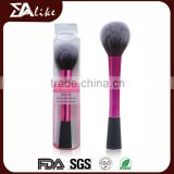 Wholesale cosmetic fashionable nature natural hair pink foundation mini blush brush