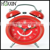 hot selling original design metal cheap fancy alarm clock with lovely face for promotion gift