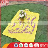 Logo printed flat screen polar fleece picnic blanket,Waterproof outdoor polar fleece picnic blanket,Briefcase style picnic mat                                                                         Quality Choice