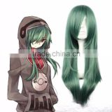 2016 Famous Kagerou Project Kido Tsubomi Halloween 68cm Long Dark Green Cute Girl Cosplay Wig
