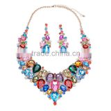 Luxury Wedding Necklace And Earring Set Fashion Gem Stone Necklace N5532                                                                         Quality Choice