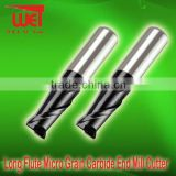 2F Long Flute Micro Grain Carbide End Mill Cutter