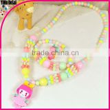 Wholesale kids necklace/handmade fashion children beaded necklaces children plastic beads necklace , beaded necklace