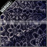 black big roulette flowers fancy lace fabric of nylon spandex lingerie lace for beautiful dress 7065