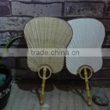 bamboo paper palm leaf fan
