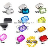 13*18mm Acrylic Point Back Octagon Mix Color Bling Rhinestone&Crystal For Stylish Bags Garment Shoes #GY011-18P(Mix-s)