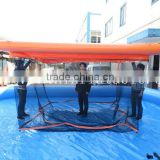 floating inflatable swimming pool with net play on water / inflatable pools for boat                                                                         Quality Choice