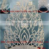 large rhinestone tall pageant crown