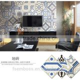 20*20cm blue color encaustic cement decorative tile moroccan cenment tile Hot sale cheap