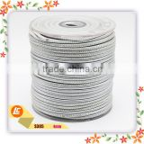 round stitched cord silver sheep nappa leather for Jewelry Findings & Components