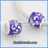 Wholesale 925 Sterling Silver Metal Enamel Charm Beads BES47A