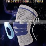 Crossfit Knitting Machine Flat Knee Brace with Silicone Gel Pad from China Supplier