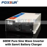 Factory price good quality 1200w 12V 110V/220V pure sine wave automatic inverter inbuilt charger