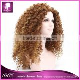 "Beautiful kinky curl heat resistant party dress synthetic wig 8-26"" "" multi- color lace front synthetic wigs"
