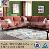 u shaped small mini wooden sofa set furniture bedroom use