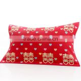 cotton red color jacquard terry pillow towel for wedding