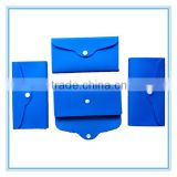 folding blue silicone wallet for girls