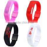 Outdoor Sports Silicone Waterproof Digital LED Adjustable Wrist Watch