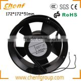 High Quality 172mm big shaded pole induction motor ac axial cooling fan