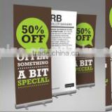 hand roll up banner easy moving nice price,roll up standees,Aluminum Display Roll Up Banner Stand 85*200
