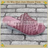 jelly color flat flip flop slippers Customized Embossed Logo
