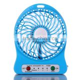 LED battery powered electronic charger fan, mini usb standing fan