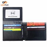 Luckiplus Leather RFID Blocking Leather Wallet for Men - Excellent Travel Bifold - Credit Card Protector