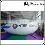 New inflatable advertising airship, inflatable helium zeppelin blimp balloon for customized
