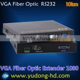 10KM VGA VGA over Fiber Optic extender signal transmitter resolution up to 1920*1080P@60Hz support RS232